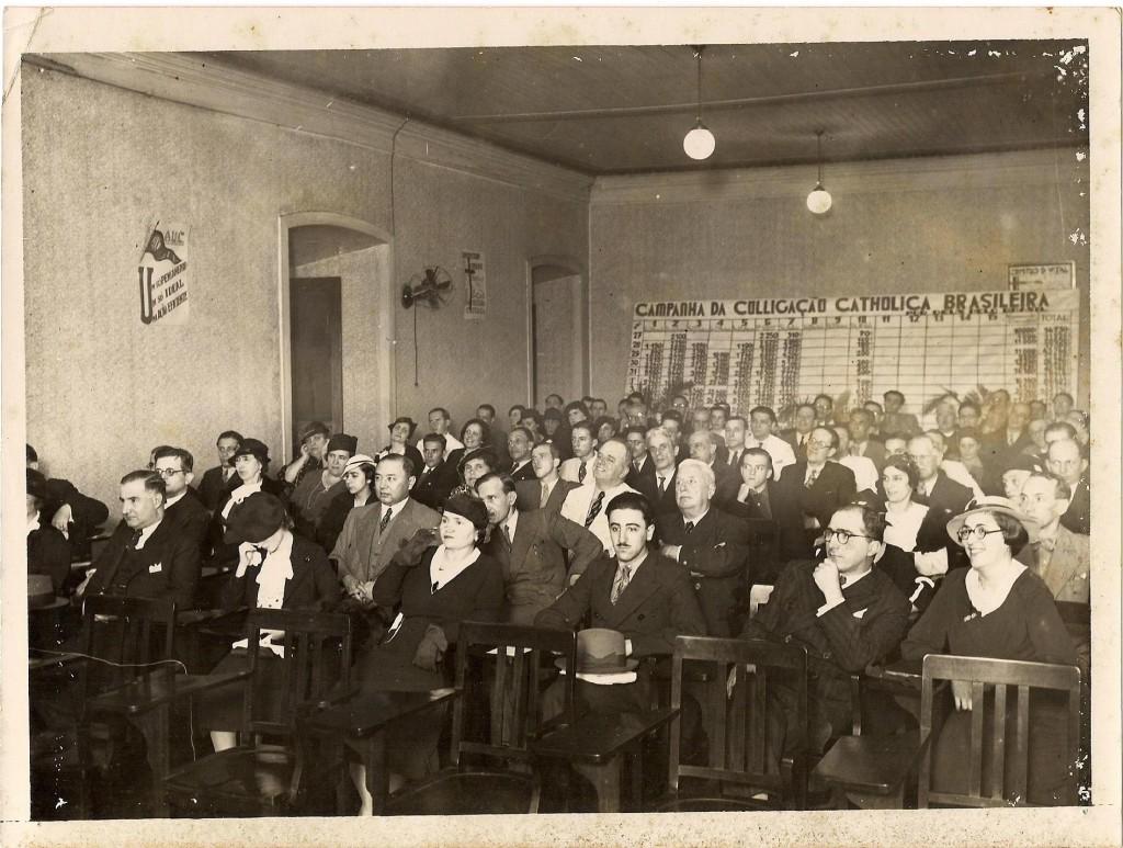 Auditório da Coligação Católica Brasileira - 1938