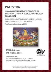 Cartaz - Sagrada Liturgia e a Sacrosanctum Concilium - V5_2