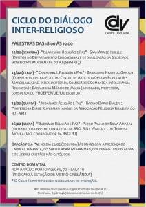 Cartaz - Dialogo Inter-Religioso