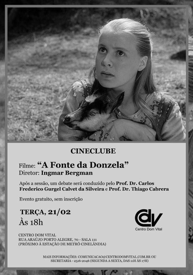 """Cineclube do CDV exibirá o filme 'A Fonte da Donzela"""""""