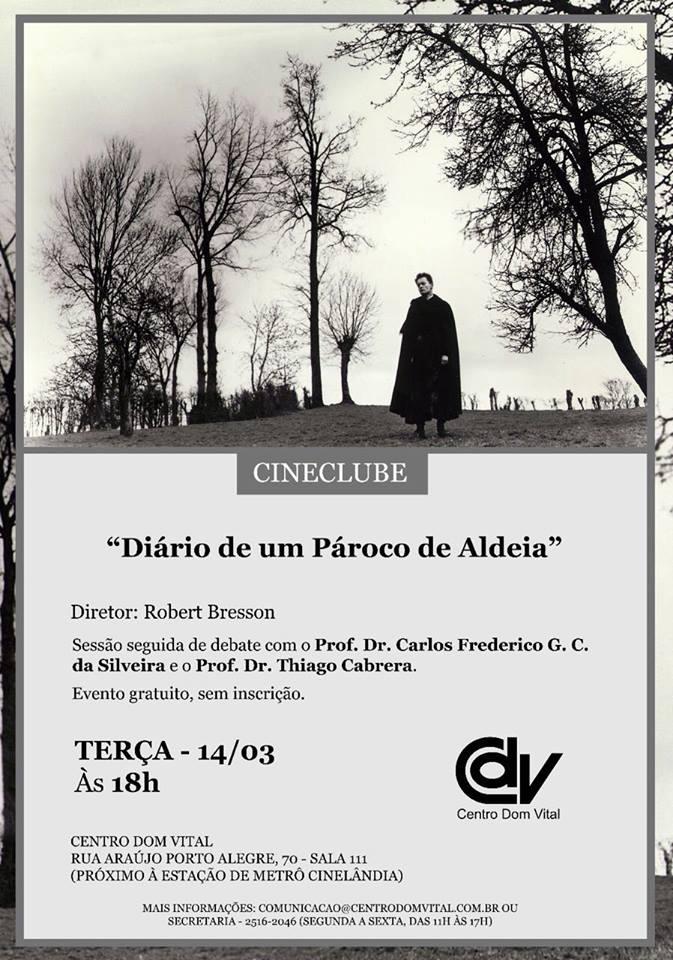 """Cineclube """"Diário de um Pároco de Aldeia"""""""