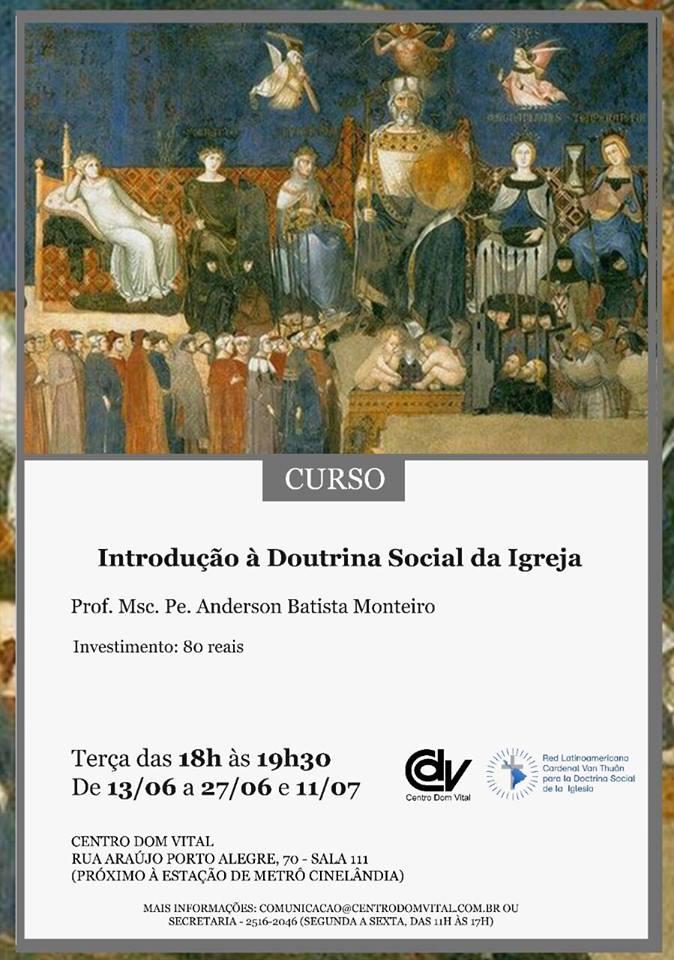 """Curso """"Introdução à Doutrina Social da Igreja"""""""