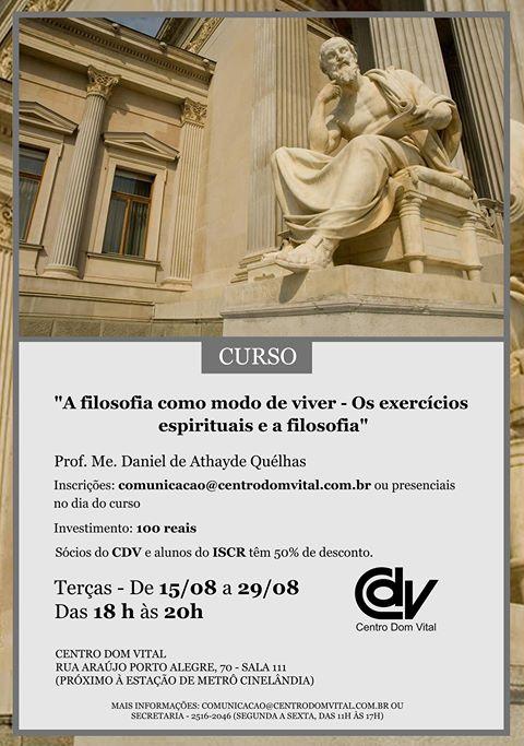 """Curso """"A filosofia como modo de viver - Os exercícios espirituais e a filosofia"""""""