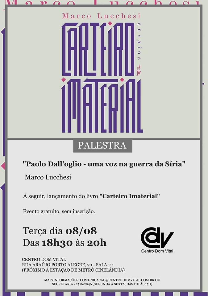 "Palestra ""Paolo Dall'oglio - uma voz na guerra da Síria"""