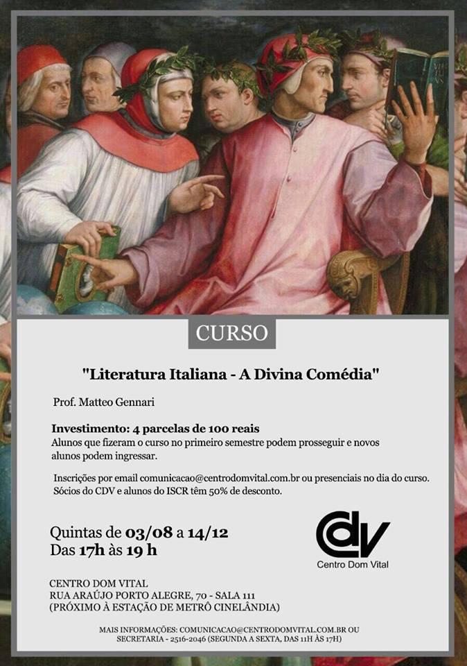 "Curso ""Literatura Italiana - A Divina Comédia"""