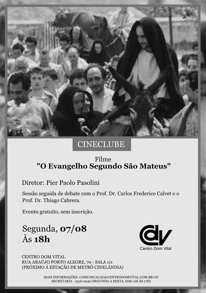 """Cineclube """"O Evangelho Segundo São Mateus"""""""