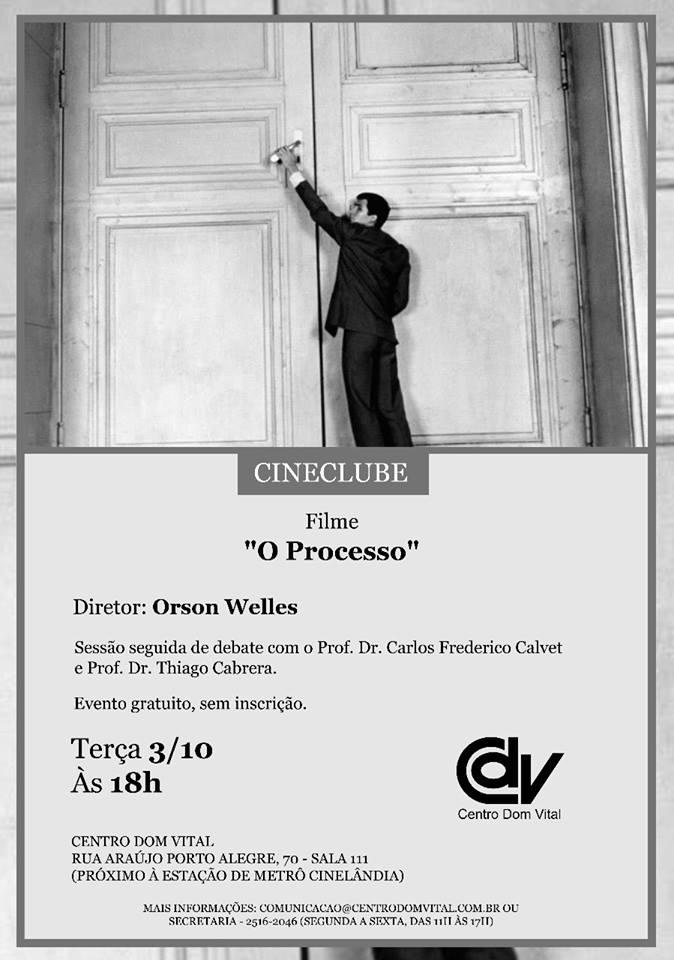 """Cineclube """"O Processo"""""""