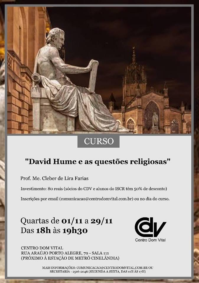 """Curso """"David Hume e as questões religiosas"""""""