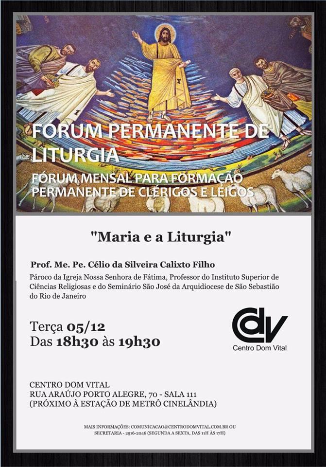 """Palestra """"Maria e a Liturgia"""""""