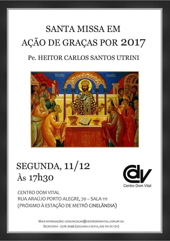 Santa Missa em Ação de Graças por 2017