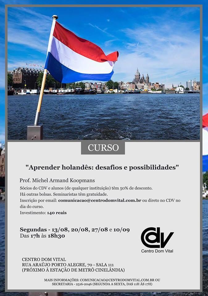"""Curso """"Aprender holandês: desafios e possibilidades"""""""