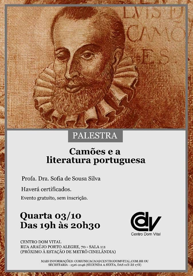 "Palestra ""Camões e a literatura portuguesa"""