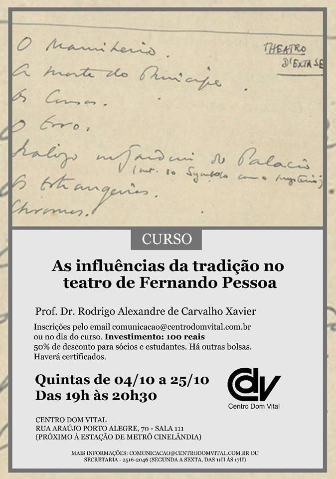 """Curso """"As influências da tradição no teatro de Fernando Pessoa"""""""