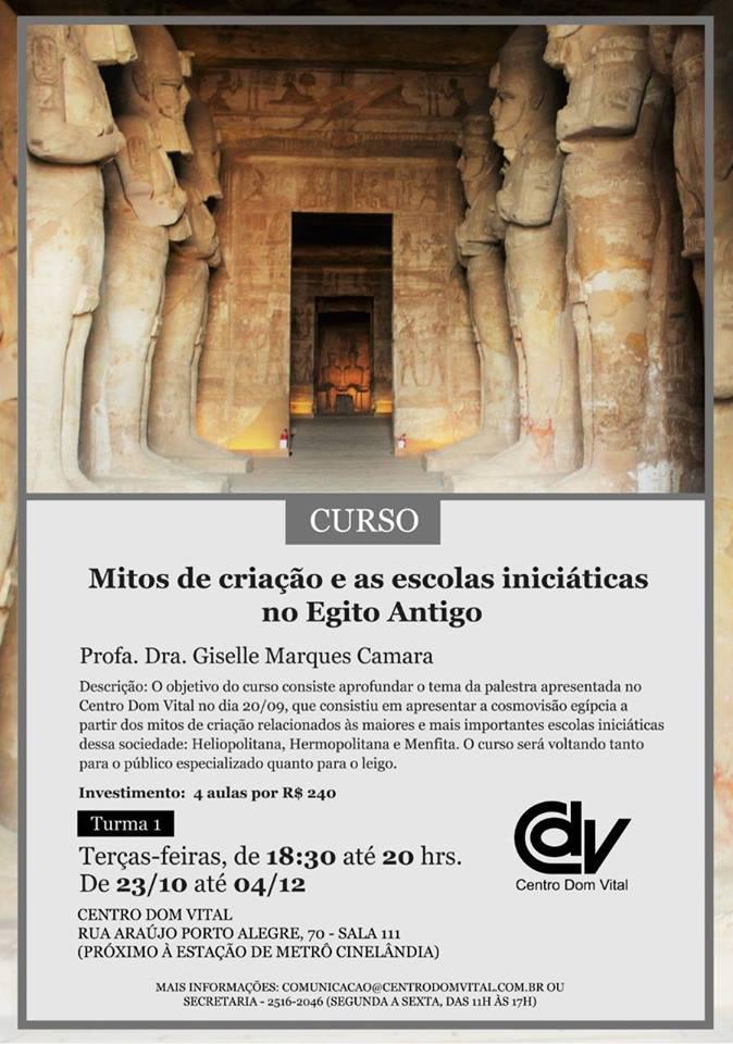 """Curso """"Mitos de criação e as escolas iniciáticas no Egito Antigo"""""""