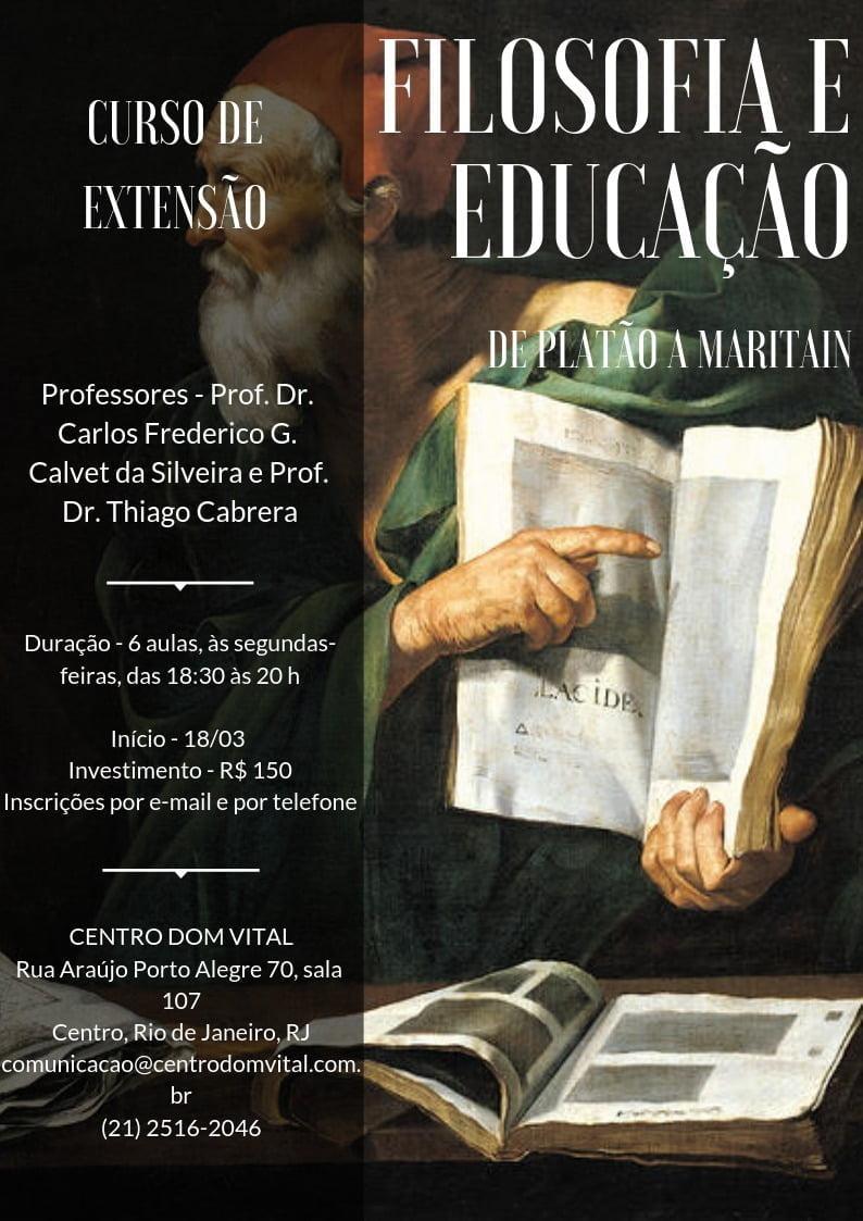 """Curso """"Filosofia e Educação"""""""