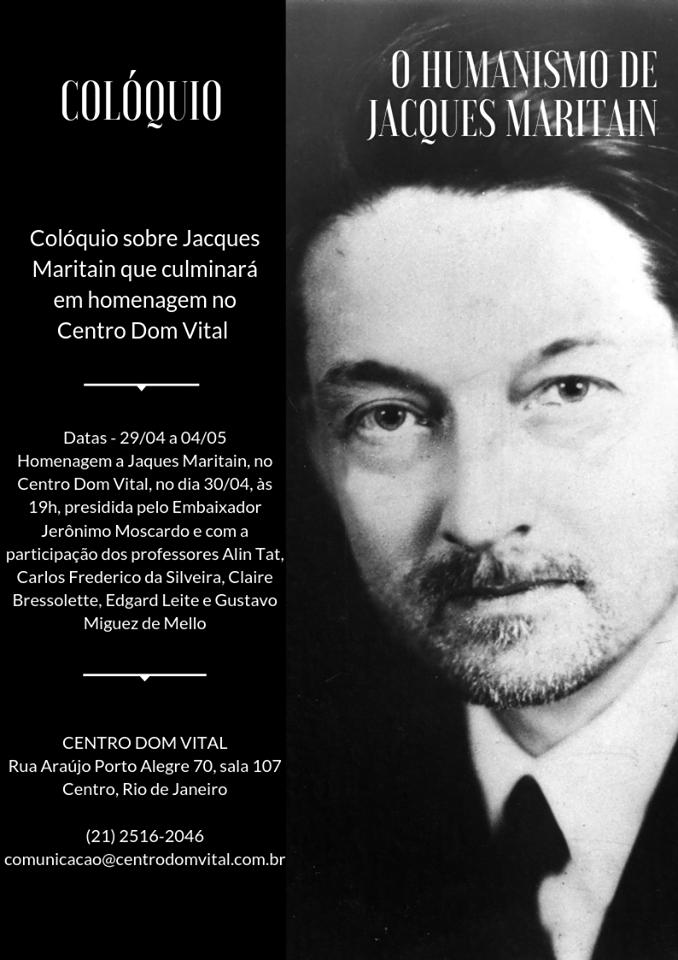 """Colóquio """"O Humanismo de Jacques Maritain"""""""