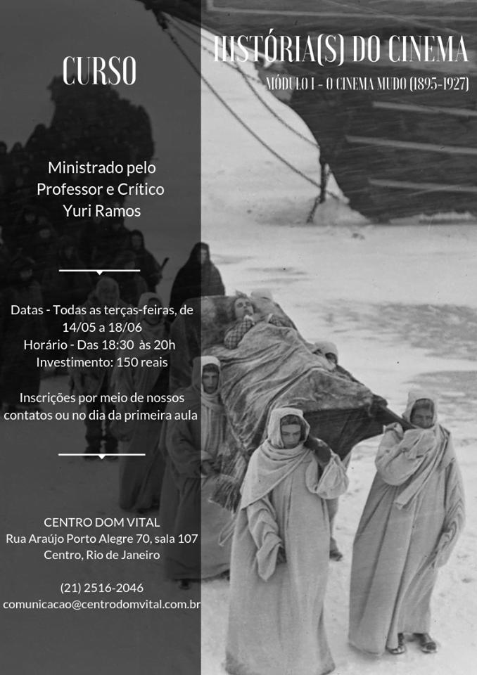 """Curso """"Histórias do cinema 'Módulo I - O cinema mudo (1895-1927)'"""""""