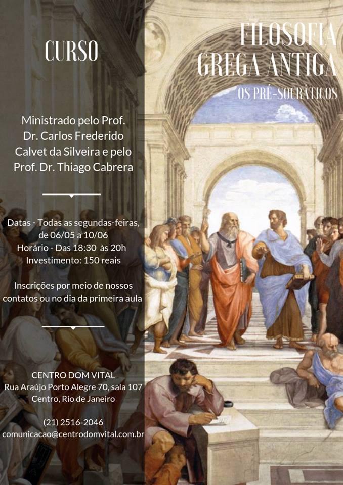 """Curso """"Filosofia Grega Antiga (Os Pré-Socráticos)"""""""
