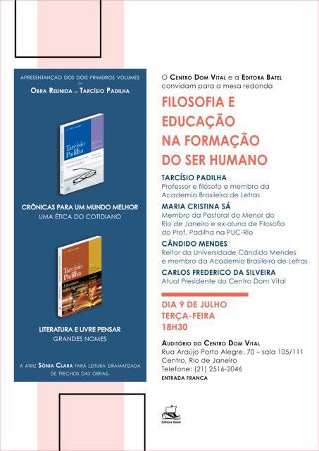"""Mesa redonda """"Filosofia e Educação na formação do Ser Humano"""""""