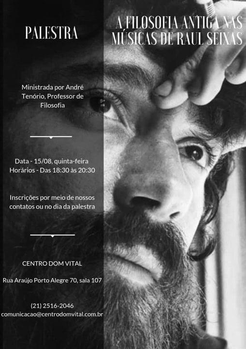 """Palestra """"A Filosofia Antiga nas músicas de Raul Seixas"""""""