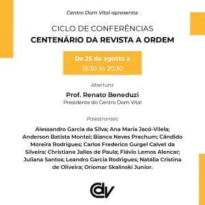 Ciclo de Conferências: Centenário da revista A Ordem